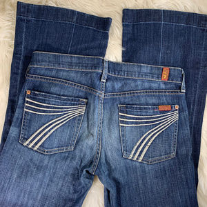 7 For All Mankind DOJO Dark Wash 7 Stitch Size 28